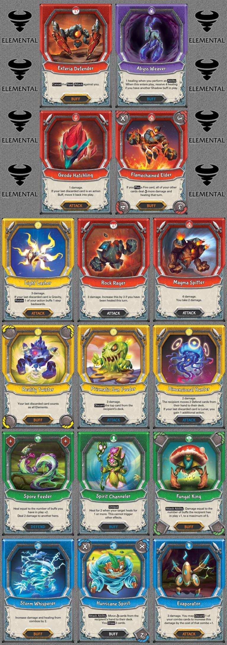 Elemental Cards